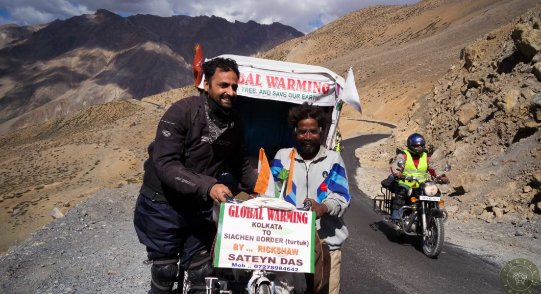 5000 kms on a manual pulling Rickshaw for global warming