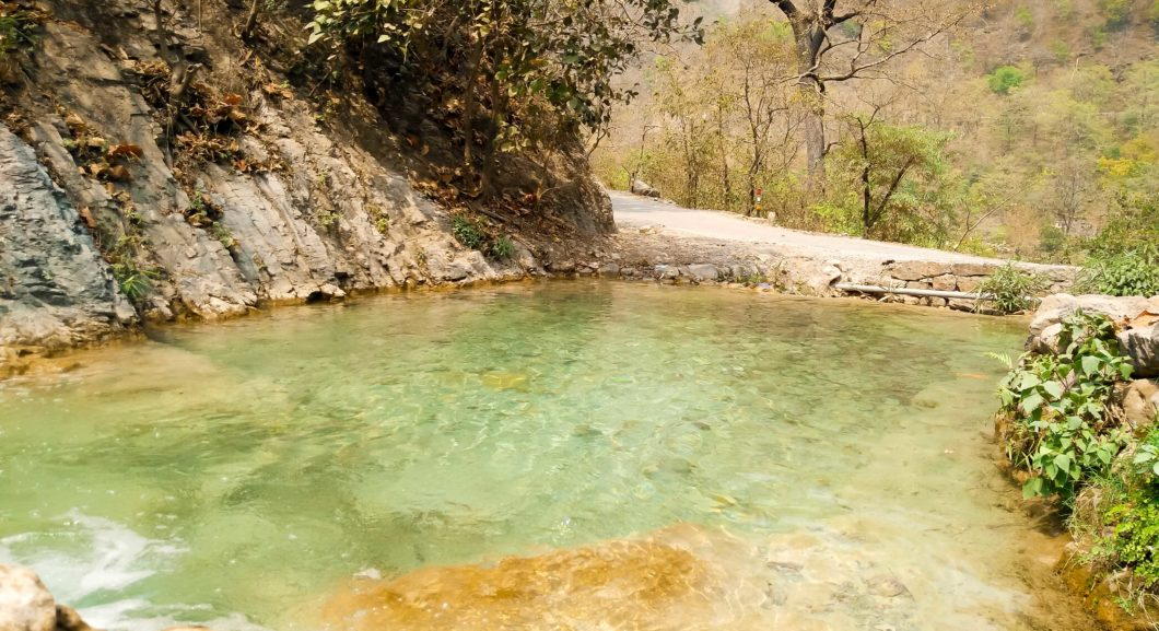 Dip Pool by the Road in Rishikesh
