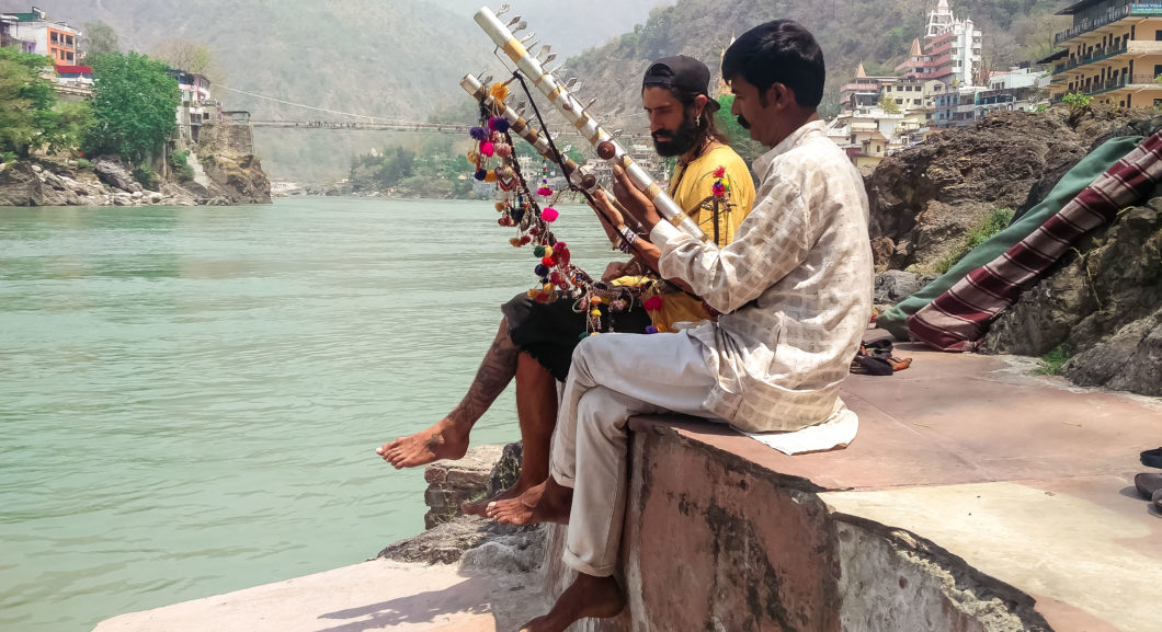 Guru Disciple by the Ganga