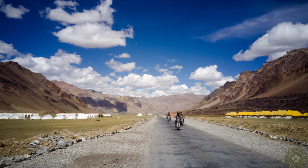 Riding on one of the highest Plains in the world