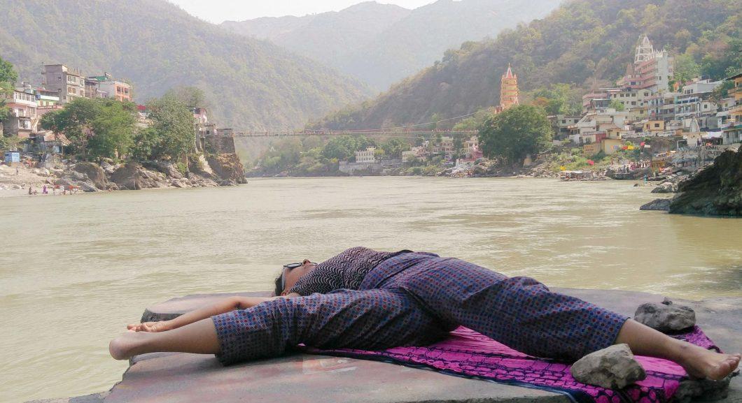 Rishikesh-Practice by the Ganga