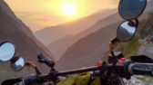 Sunset ride in Himachali Himalayas